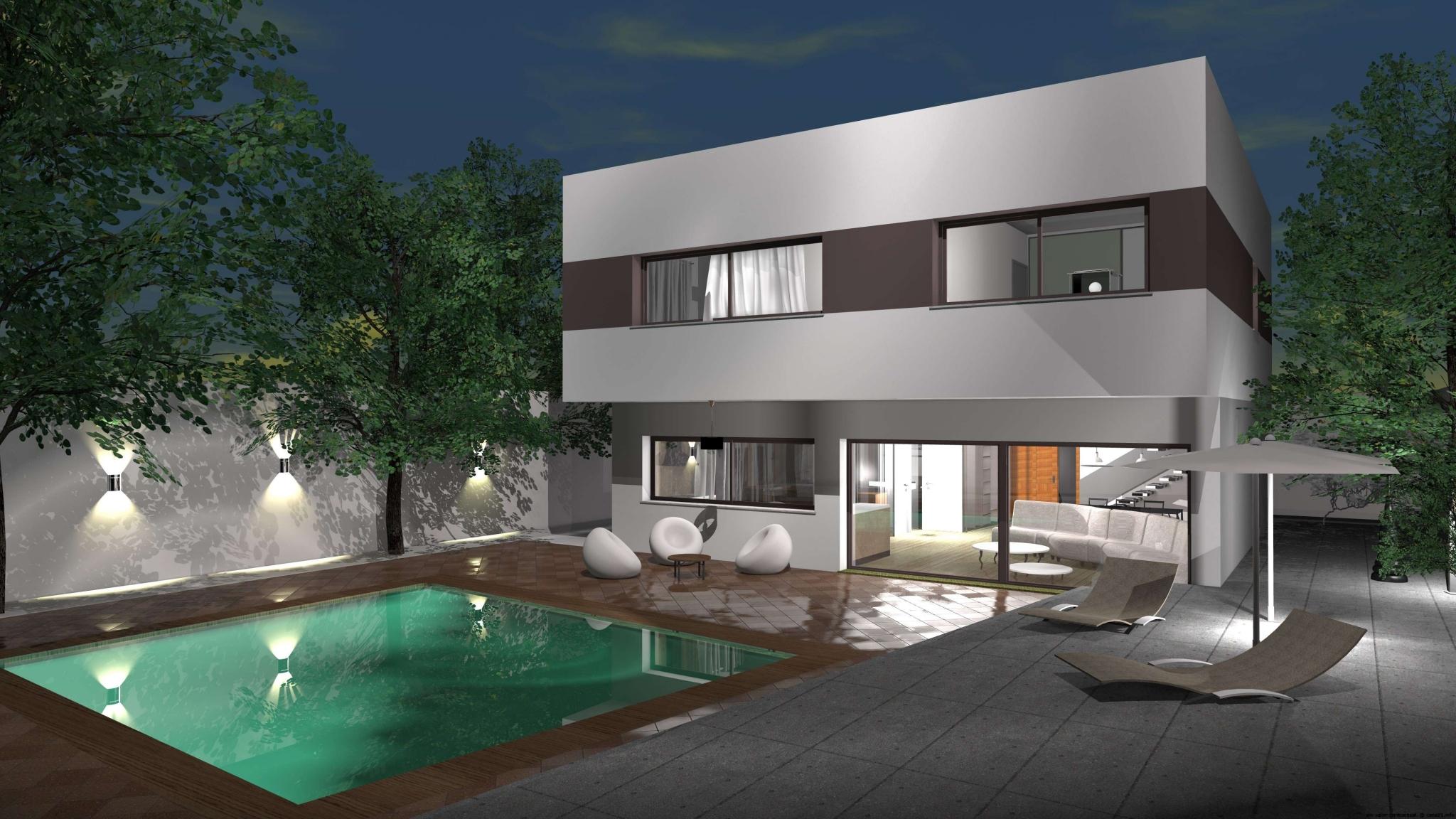 Casa de dise o minimalista for Modelo de casa de 4x6