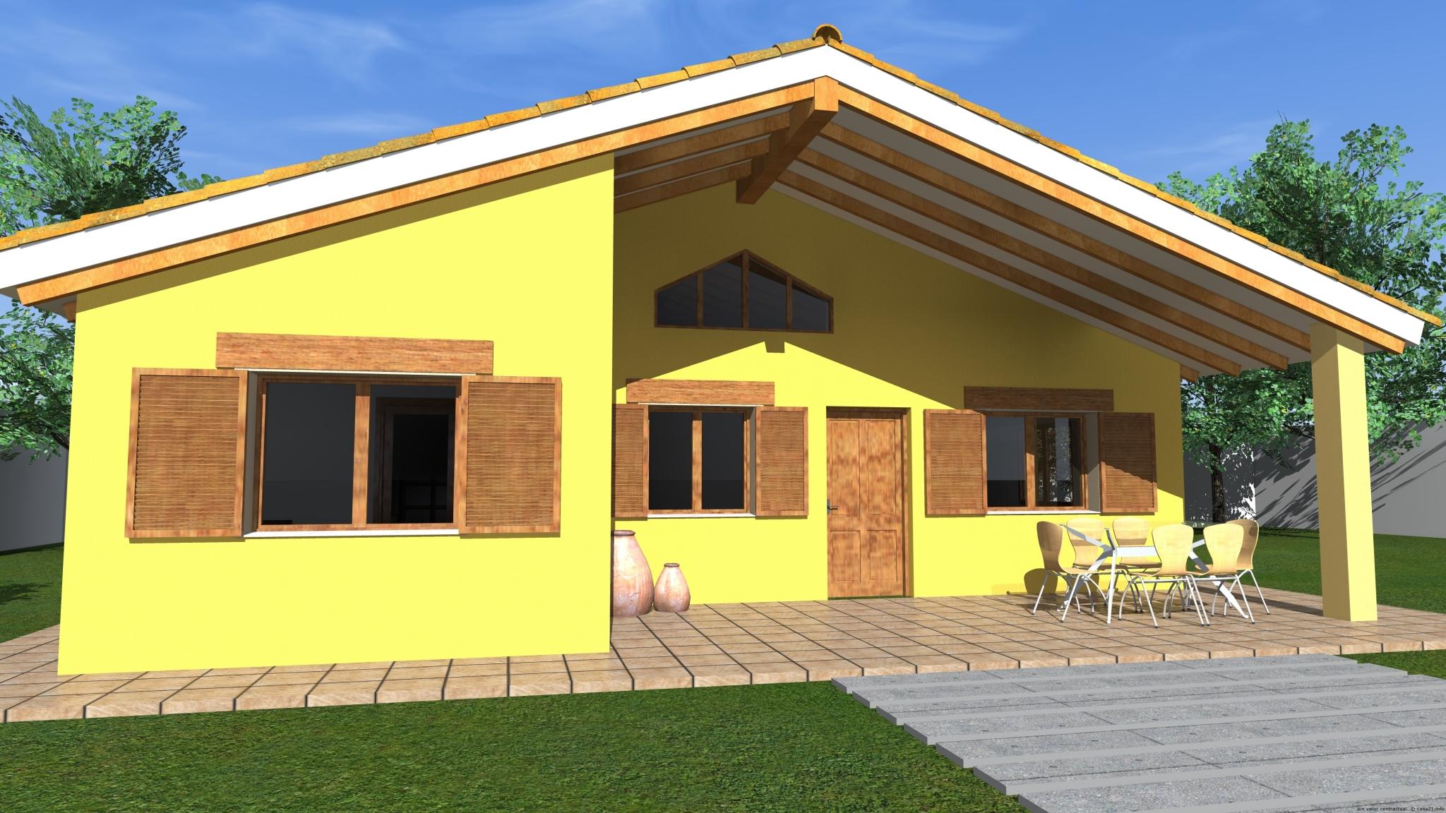 Casa siena construcci n casa dos aguas for Opciones de techos para casas