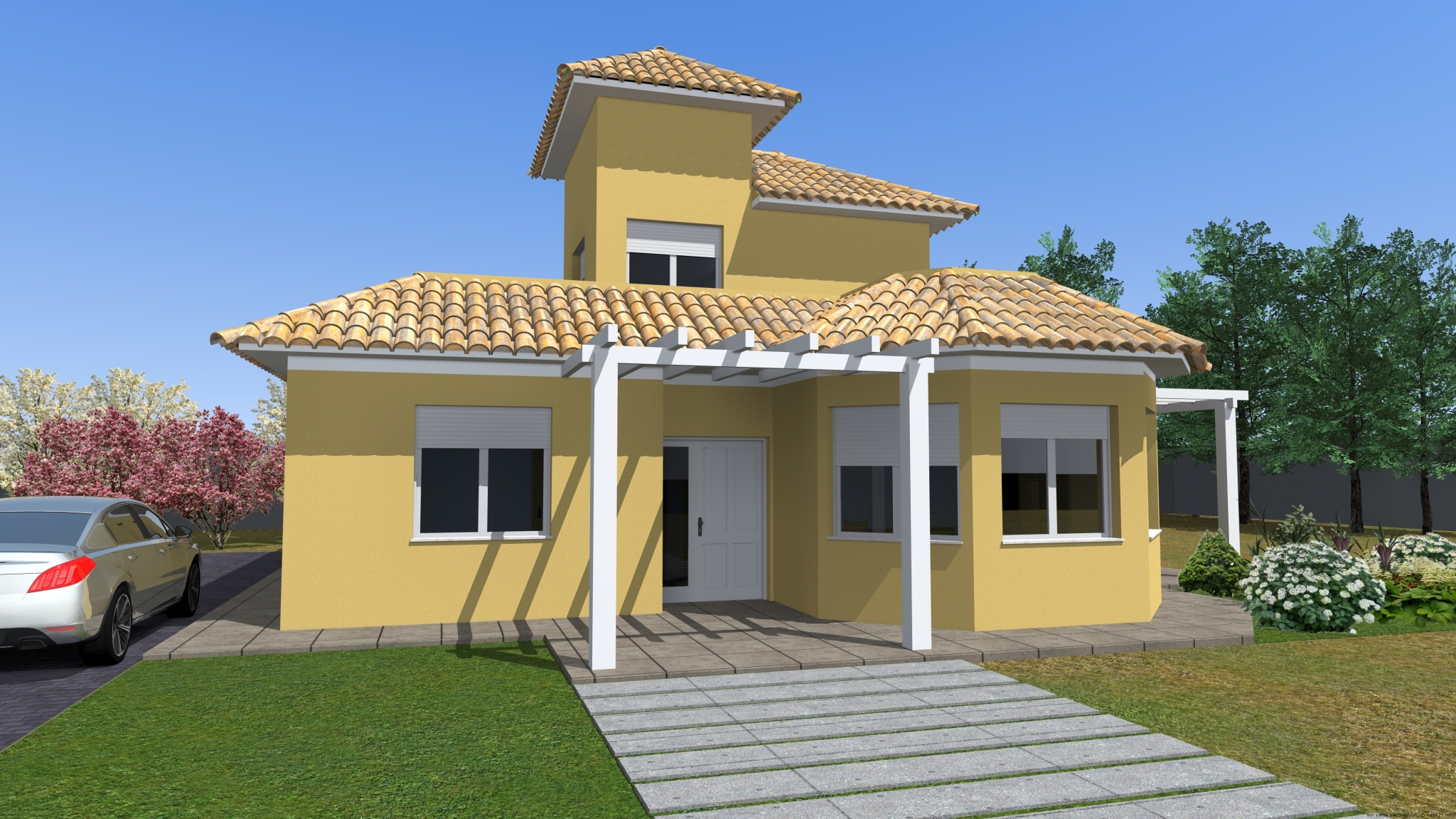 Casa de dise o tradicional - Constructor de casas ...