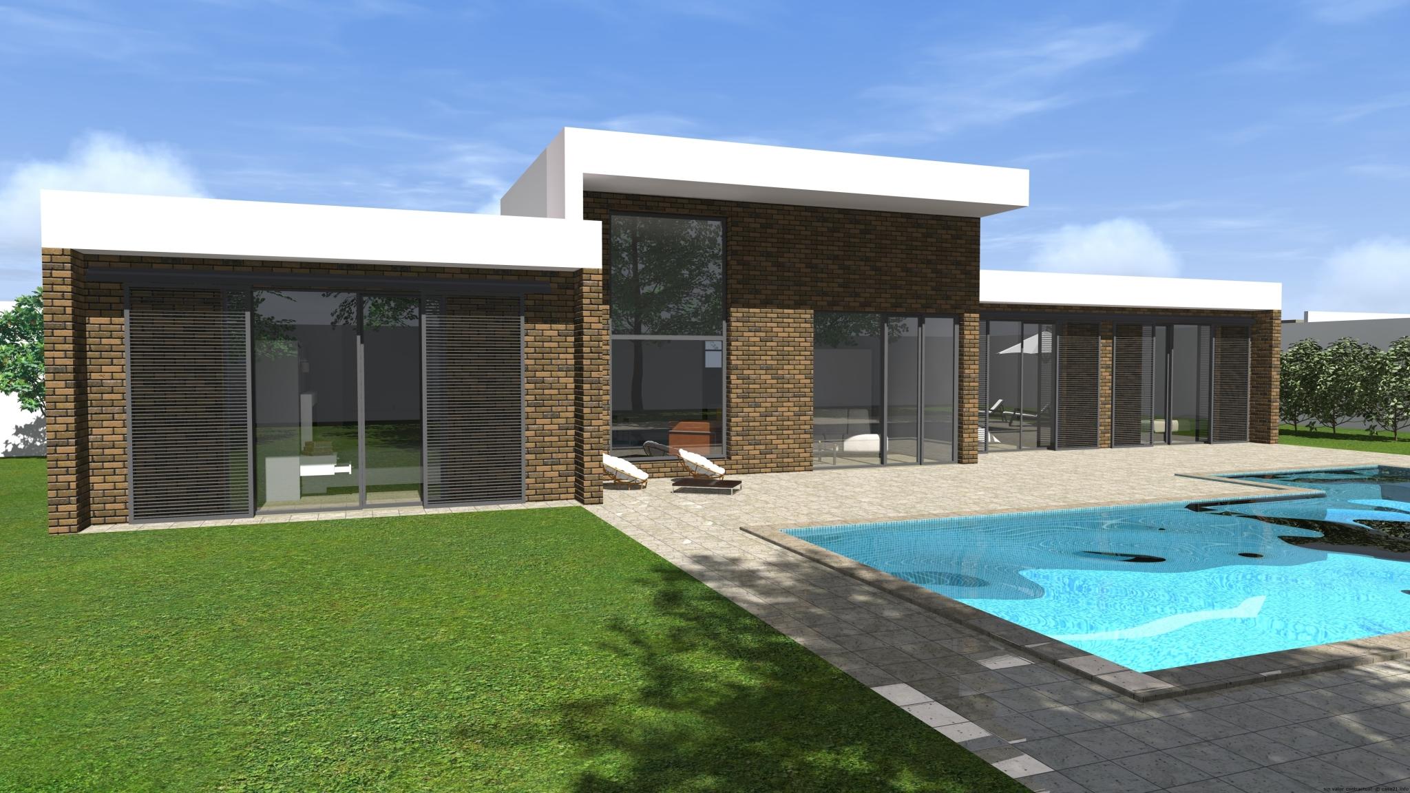 Casa de dise o moderno miraflores for Proyecto chalet moderno