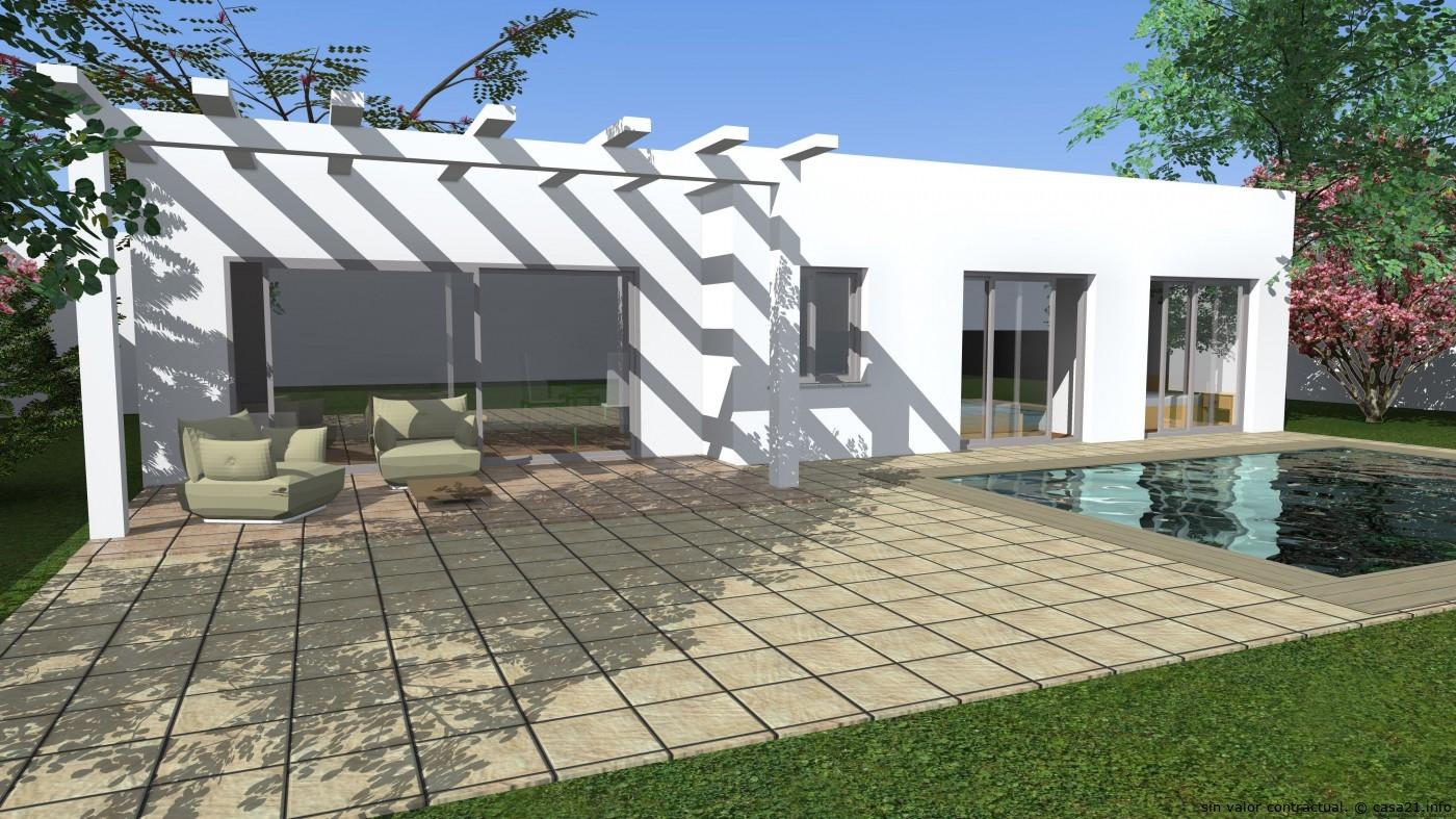 Casa de dise o tradicional - Porche casa moderna ...