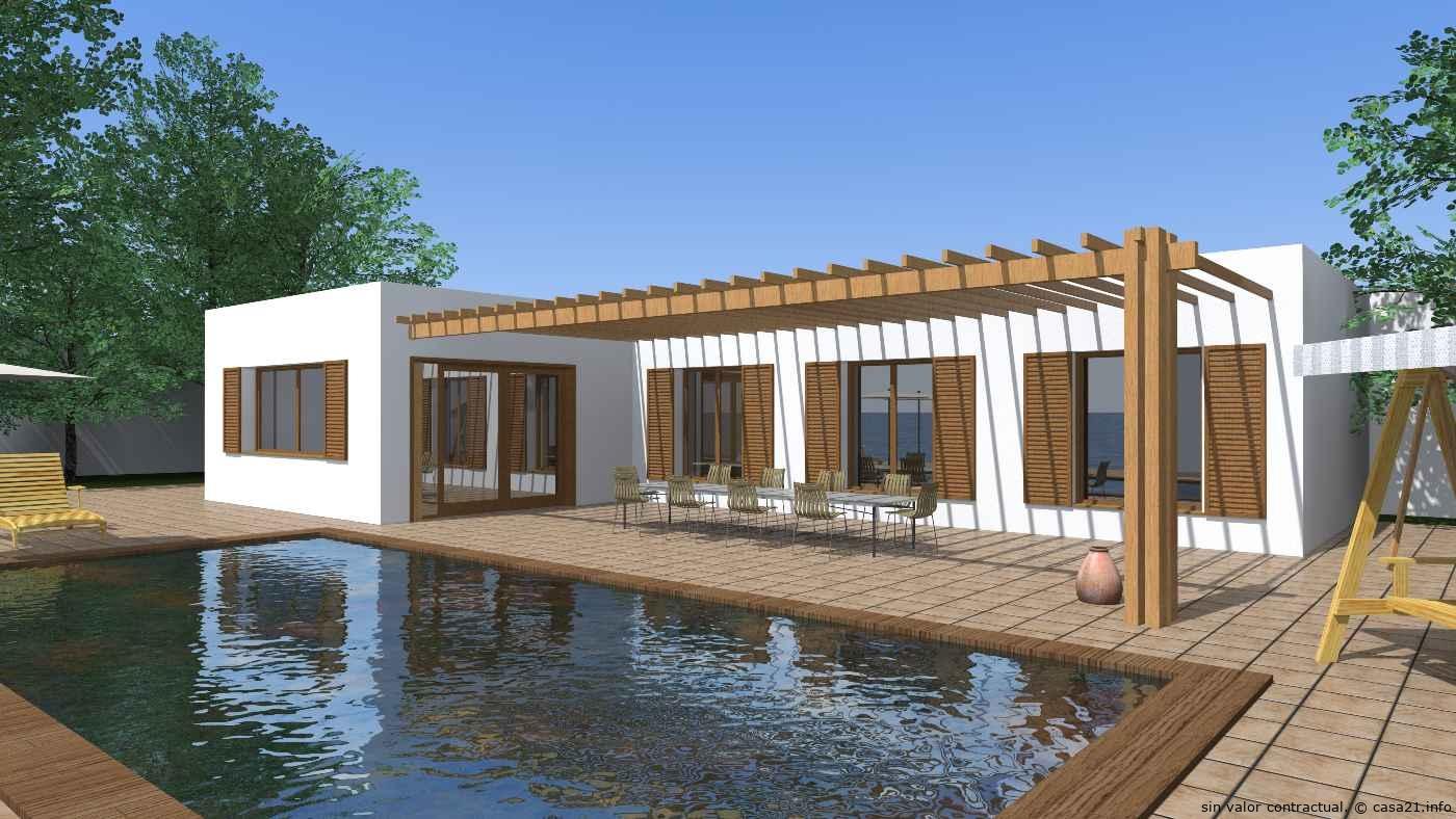 Proyectos de casas rusticas ideas de disenos for Casa minimalista rustica
