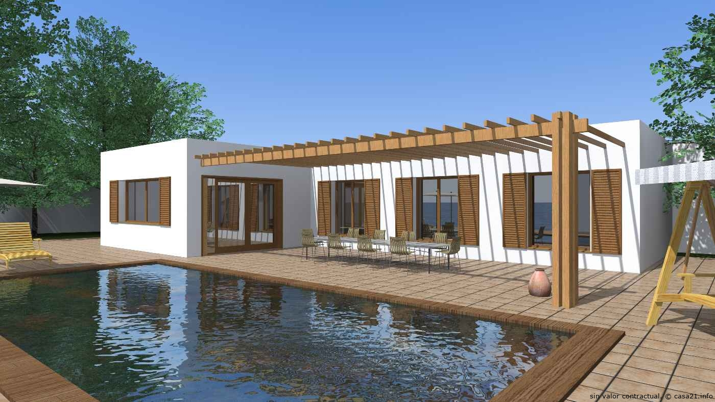 Casa de dise o minimalista - Diseno casa rustica ...