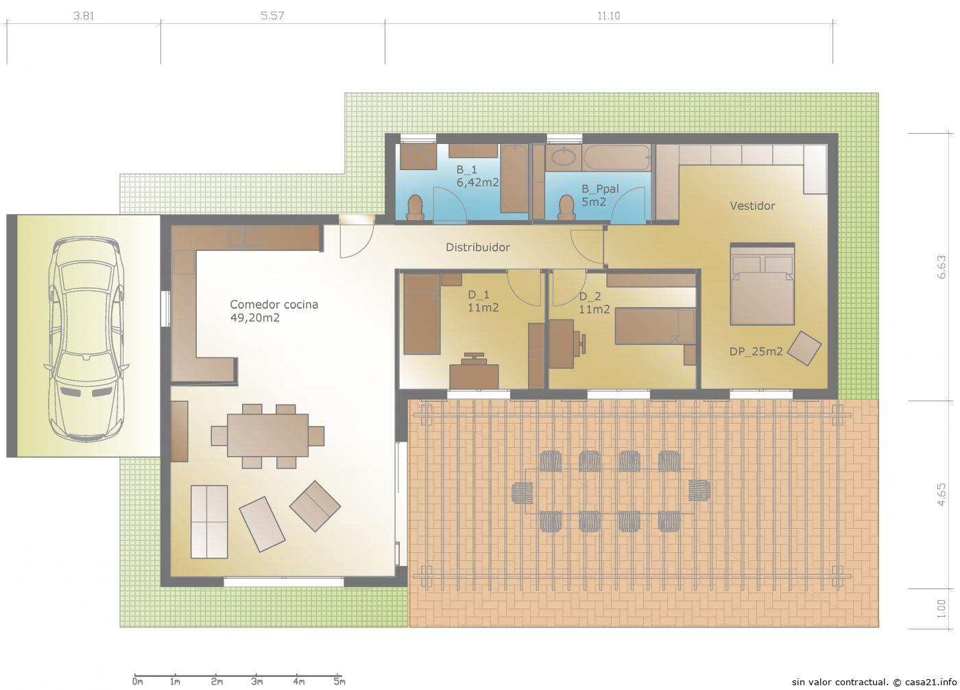 Aurora 3d casa moderna - Planos de casas pareadas ...